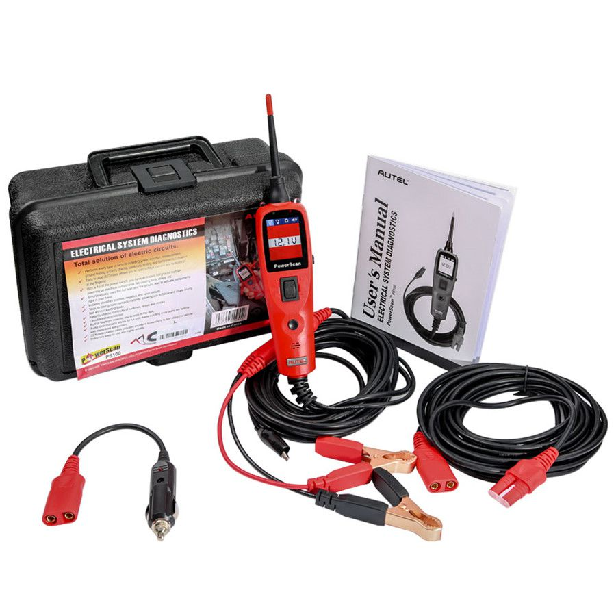 Autel PowerScan PS100 Electrical System Diagnostic Tool Highly Reliable Circuit Tester Power Injection Test Leads