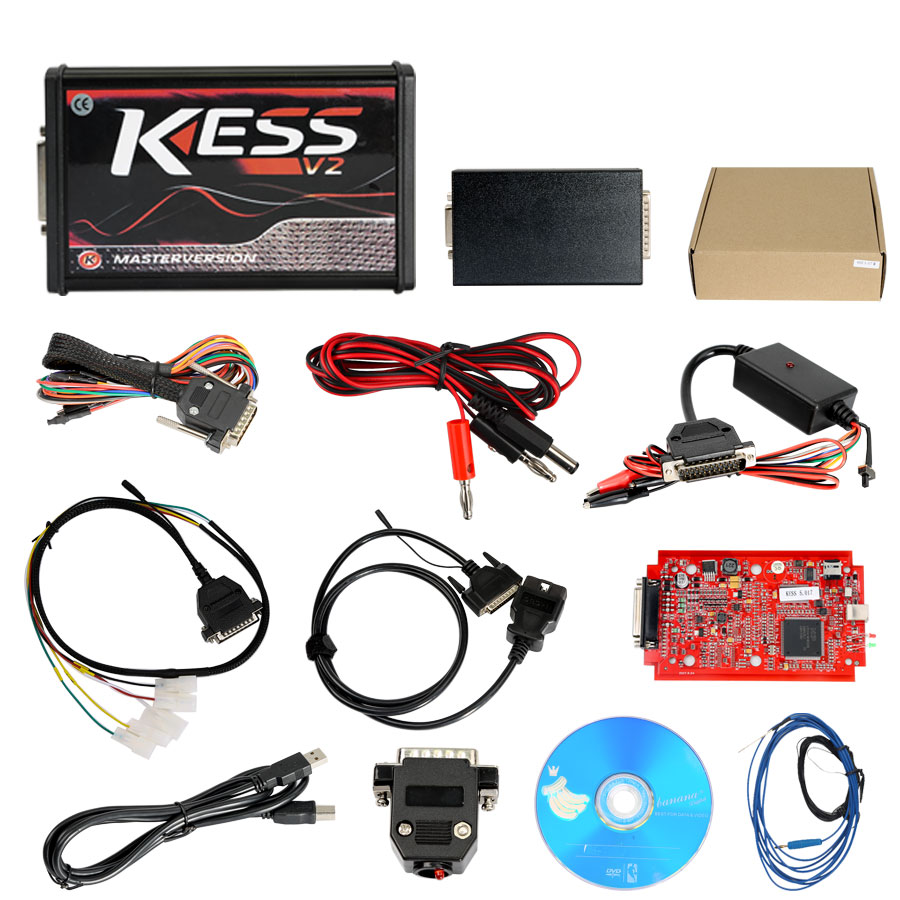 2019 KESS V2 ECU Chip Tuning with Red PCB Online Version Support 140 Protocol No Token Limited